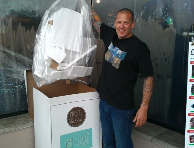 Jon from Surfride in Solana Beach shows off his EPS collection.