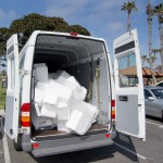 The Marko Foam van ended up with almost a full load of collected foam from the public and REEF employees