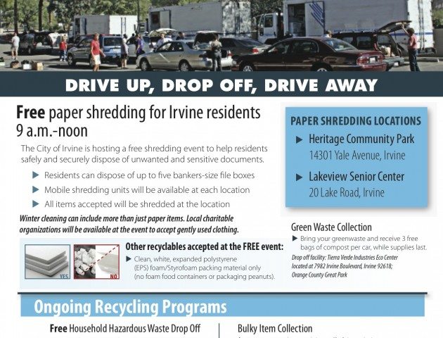 Irvine Shred-Clean Event- Flierfinal